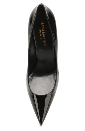 Женские кожаные туфли lexi SAINT LAURENT черного цвета, арт. 603912/0NP00 | Фото 5