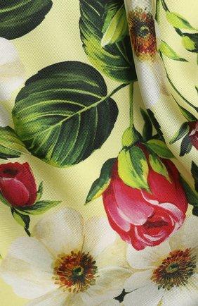 Женский шелковый платок DOLCE & GABBANA желтого цвета, арт. FN092R/GDS50 | Фото 2