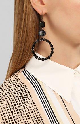 Женские серьги ISABEL MARANT черного цвета, арт. BL0921-20P040B | Фото 2