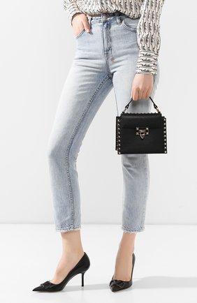 Женская сумка valentino garavani rockstud small VALENTINO черного цвета, арт. TW0B0G49/VSF | Фото 2