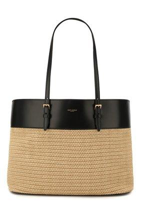 Женская сумка-шопер boucle medium SAINT LAURENT кремвого цвета, арт. 608962/90B8J | Фото 1