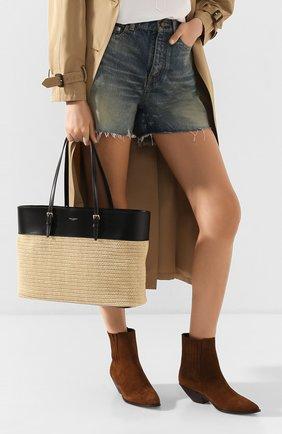 Женская сумка-шопер boucle medium SAINT LAURENT кремвого цвета, арт. 608962/90B8J | Фото 2