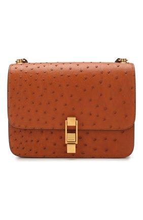 Женская сумка carre SAINT LAURENT коричневого цвета, арт. 585060/L0V1W | Фото 1