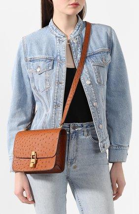 Женская сумка carre SAINT LAURENT коричневого цвета, арт. 585060/L0V1W | Фото 2