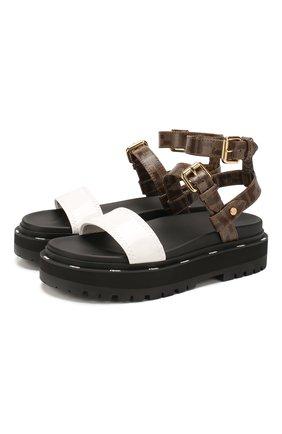 Женские сандалии FENDI черного цвета, арт. 8X7050 A8TW | Фото 1