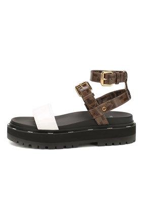 Женские сандалии FENDI черного цвета, арт. 8X7050 A8TW | Фото 3