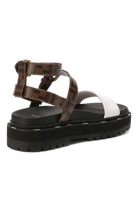 Женские сандалии FENDI черного цвета, арт. 8X7050 A8TW | Фото 4