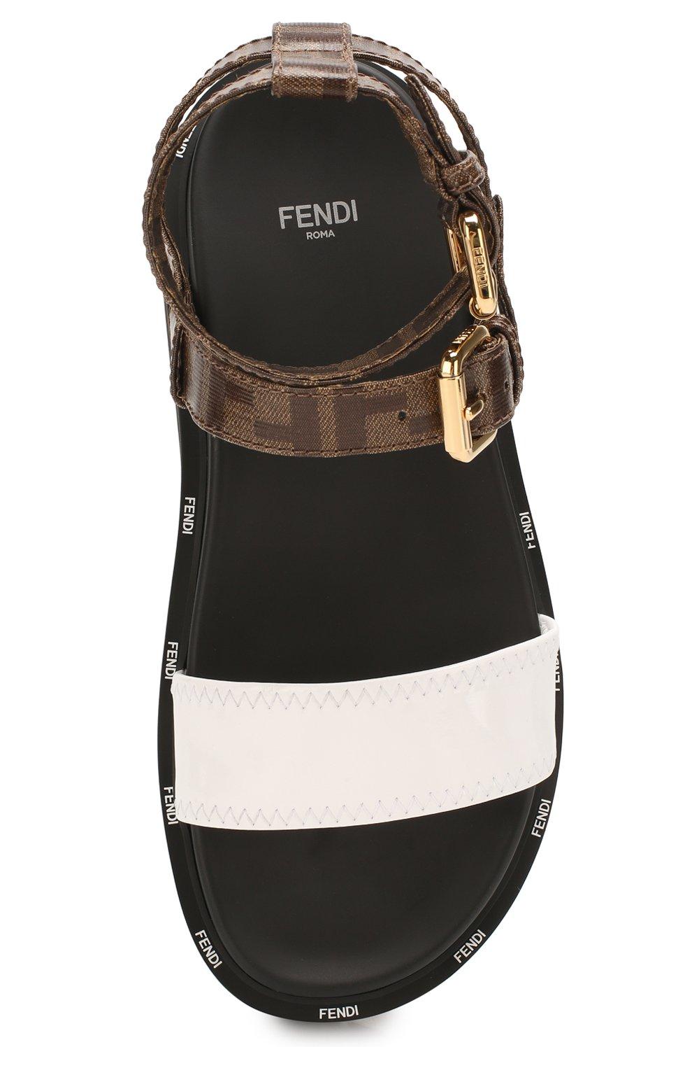 Женские сандалии FENDI черного цвета, арт. 8X7050 A8TW | Фото 5