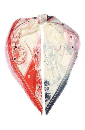 Женский платок ALEXANDER MCQUEEN кремвого цвета, арт. 618555/3A34Q | Фото 1