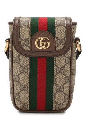 Женская сумка ophidia mini GUCCI бежевого цвета, арт. 598912/96IWG | Фото 1