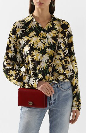 Женская сумка marina GUCCI красного цвета, арт. 598549/1DB0X | Фото 2