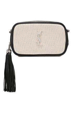 Женская сумка lou mini SAINT LAURENT кремвого цвета, арт. 612563/HZD5N | Фото 1