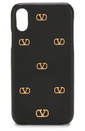Мужской чехол valentino garavani для iphone x/xs VALENTINO черного цвета, арт. TW2P0S87/DRT | Фото 1