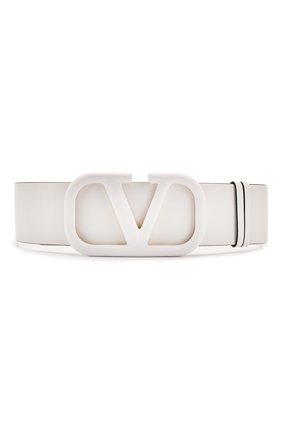 Женский кожаный ремень valentino garavani VALENTINO белого цвета, арт. TW0T0S10/YEE | Фото 1