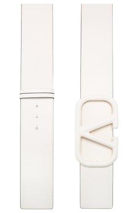 Женский кожаный ремень valentino garavani VALENTINO белого цвета, арт. TW0T0S10/YEE | Фото 2