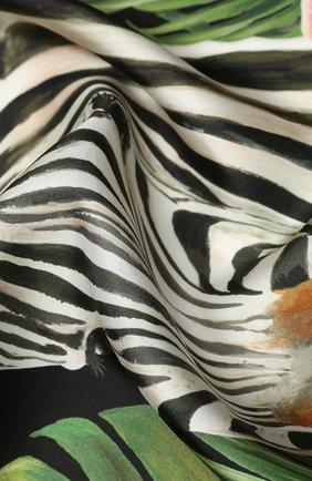 Женский шелковый платок DOLCE & GABBANA черного цвета, арт. FN086R/FI1WX   Фото 2