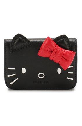 Женские кожаное портмоне hello kitty BALENCIAGA черного цвета, арт. 619017/1CBQ3 | Фото 1