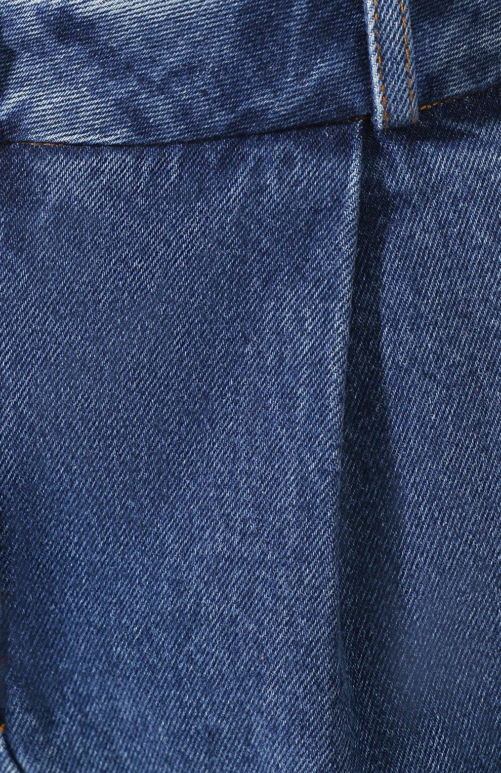 Женские джинсовые шорты ALEXANDER TEREKHOV синего цвета, арт. SRJS007/403/S20 | Фото 5 (Женское Кросс-КТ: Шорты-одежда; Кросс-КТ: Деним; Длина Ж (юбки, платья, шорты): Мини; Материал внешний: Хлопок)