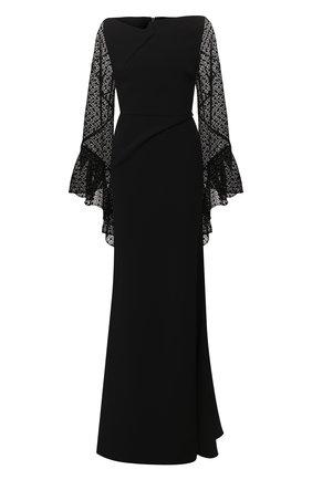 Женское платье-макси ROLAND MOURET черного цвета, арт. PS20/S0839/F0382 | Фото 1