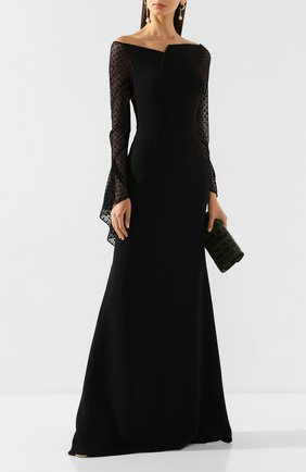 Женское платье-макси ROLAND MOURET черного цвета, арт. PS20/S0839/F0382 | Фото 2