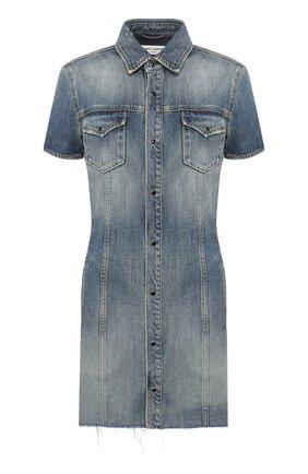 Женское джинсовое платье SAINT LAURENT голубого цвета, арт. 601270/YL870 | Фото 1
