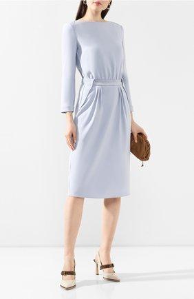 Женское платье GIORGIO ARMANI голубого цвета, арт. 0SHVA049/T002M | Фото 2