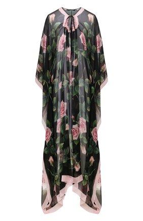 Женское шелковое платье-туника DOLCE & GABBANA черного цвета, арт. F6F1HT/GDU04 | Фото 1