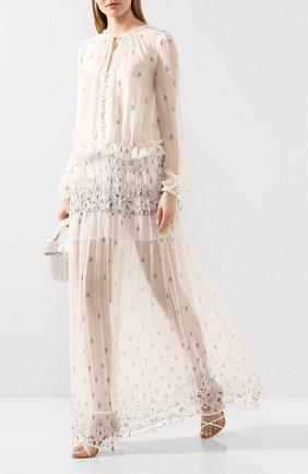 Женское шелковое платье AMIRI кремвого цвета, арт. Y0W08237CH | Фото 2