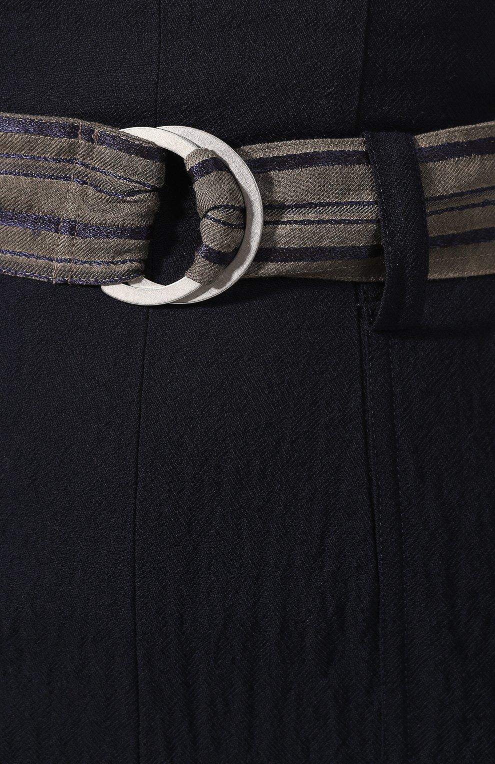 Женская юбка из смеси шерсти и вискозы LORENA ANTONIAZZI темно-синего цвета, арт. P2012G0010/3160   Фото 5 (Материал внешний: Шерсть; Женское Кросс-КТ: Юбка-карандаш; Длина Ж (юбки, платья, шорты): Миди)