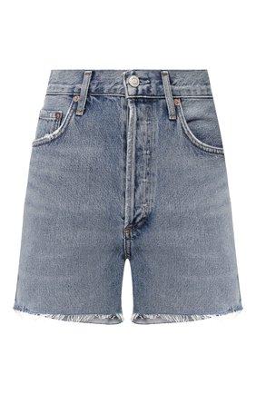 Женские джинсовые шорты AGOLDE голубого цвета, арт. A083-1141 | Фото 1