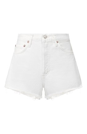 Женские джинсовые шорты AGOLDE белого цвета, арт. A026-1183 | Фото 1