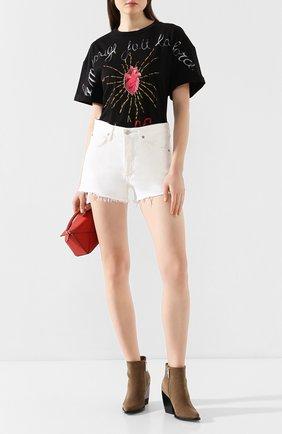 Женские джинсовые шорты AGOLDE белого цвета, арт. A026-1183 | Фото 2