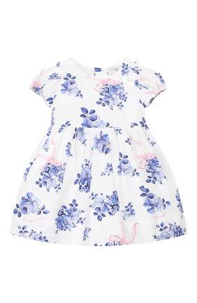 Женский хлопковое платье MONNALISA голубого цвета, арт. 315902 | Фото 1