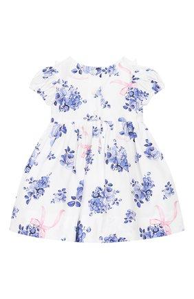 Женский хлопковое платье MONNALISA голубого цвета, арт. 315902 | Фото 2