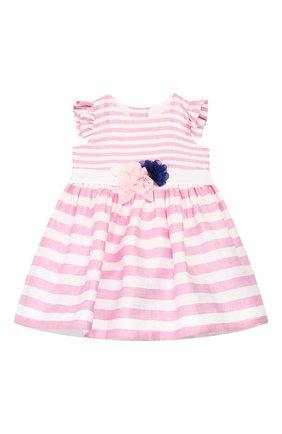 Женский льняное платье MONNALISA розового цвета, арт. 315914 | Фото 1