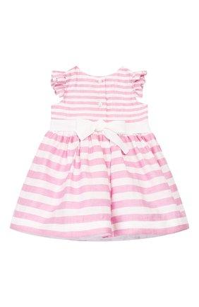 Женский льняное платье MONNALISA розового цвета, арт. 315914 | Фото 2