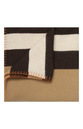 Мужского плед из шерсти и кашемира BURBERRY бежевого цвета, арт. 8023088 | Фото 1