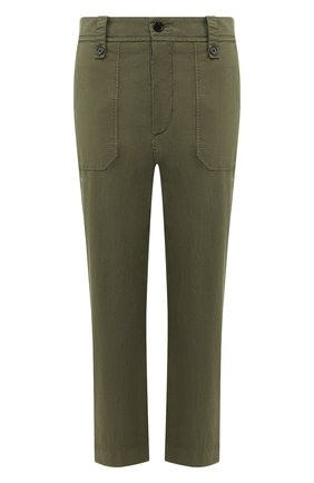 Женские хлопковые брюки ZADIG&VOLTAIRE хаки цвета, арт. SJCL0101F | Фото 1