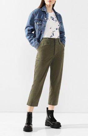 Женские хлопковые брюки ZADIG&VOLTAIRE хаки цвета, арт. SJCL0101F | Фото 2
