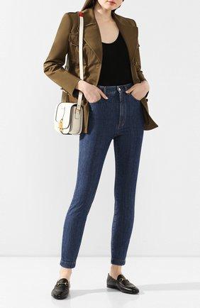 Женские джинсы DOLCE & GABBANA темно-синего цвета, арт. FTB0QD/G899S | Фото 2