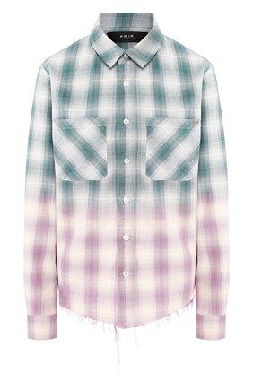 Женская хлопковая блузка AMIRI зеленого цвета, арт. Y0W06449PD | Фото 1