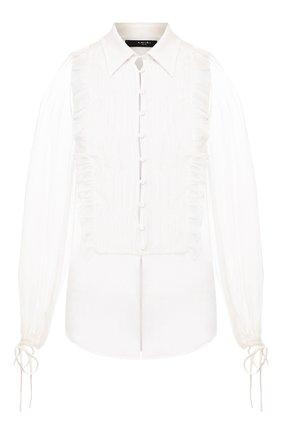 Женская шелковая блузка AMIRI белого цвета, арт. Y0W10302CH | Фото 1