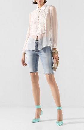 Женская шелковая блузка AMIRI белого цвета, арт. Y0W10302CH | Фото 2