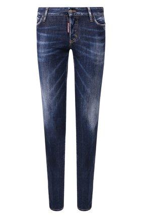 Женские джинсы DSQUARED2 синего цвета, арт. S73LA0239/S30685 | Фото 1