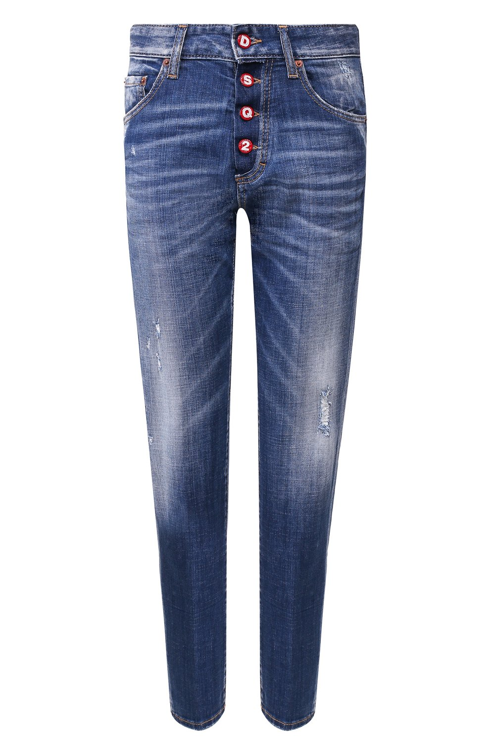 Женские джинсы DSQUARED2 синего цвета, арт. S72LB0287/S30342 | Фото 1