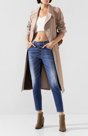 Женские джинсы DSQUARED2 синего цвета, арт. S72LB0287/S30342 | Фото 2