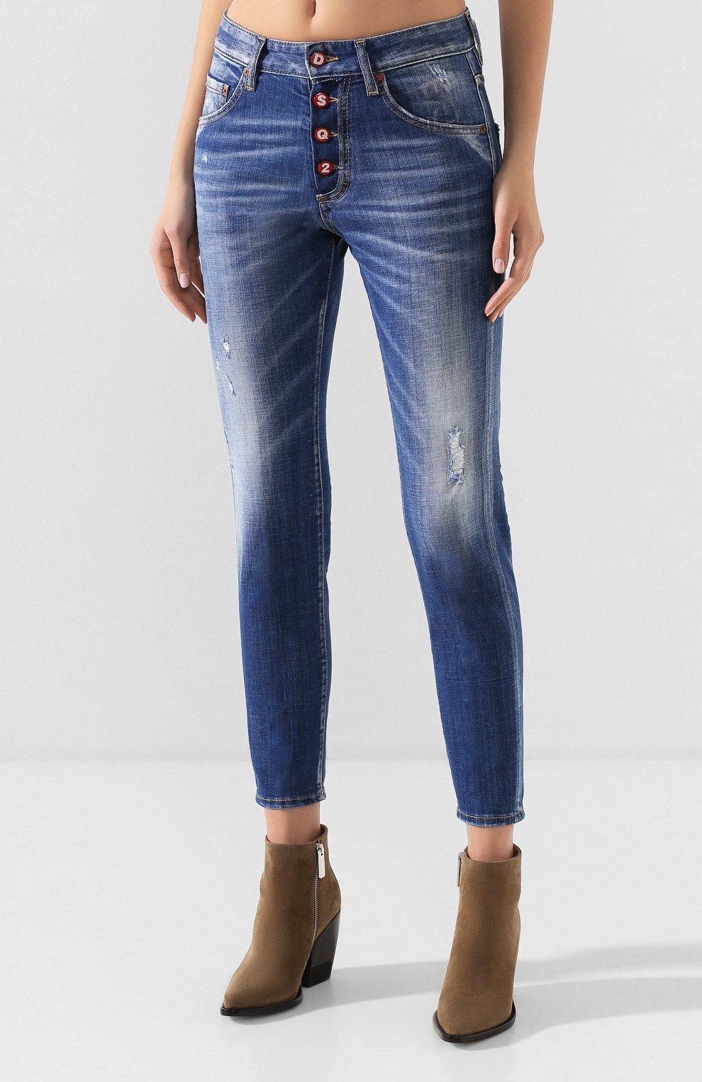 Женские джинсы DSQUARED2 синего цвета, арт. S72LB0287/S30342 | Фото 3