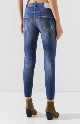 Женские джинсы DSQUARED2 синего цвета, арт. S72LB0287/S30342 | Фото 4