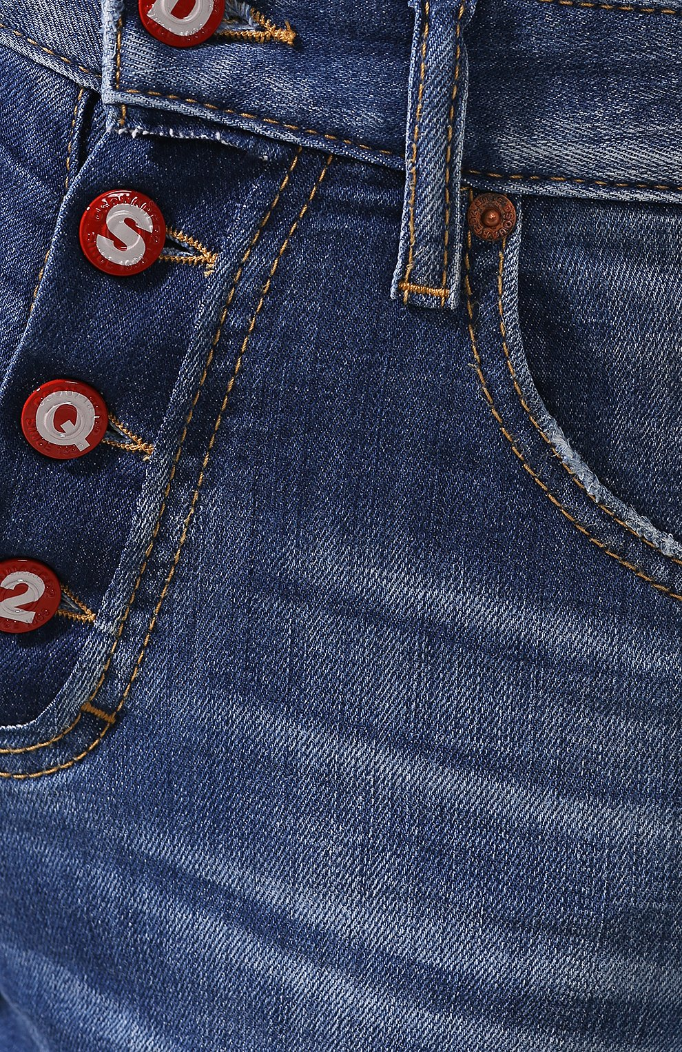 Женские джинсы DSQUARED2 синего цвета, арт. S72LB0287/S30342 | Фото 5