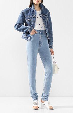 Женские джинсы HELMUT LANG голубого цвета, арт. J04DW213 | Фото 2